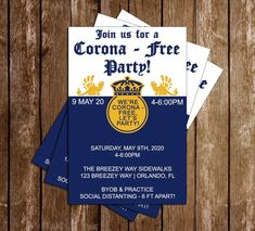 Novel Concept Designs - Corona Beer - Party - Invitation