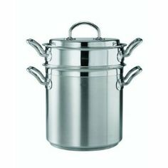 Multi-Pot with Lid by Rosle. $346.00. Rosle 91100 6-1/2 qt Teknika Pasta And Asparagus Pot With Lid, Stainless Steel. 91100 Features: -Aluminum core for economic use of energy, even heat distribution, and long heat retention.-Can be used in the oven and on all types of cookers: electric, induction, gas, and ceramic hobs.-Heavy, tight-fitting stainless steel lid for nutrient-protective boiling and cooking using a minimum amount of water.-Handle allows you to hang it from a rack...