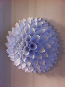DIY paper wall flower