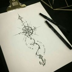 Compas qui montre le chemin