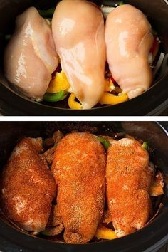 Slow-Cooker Chicken Fajitas 15 Slow Cooker Recipes That Are Actually Healthy Slow Cooked Meals, Healthy Slow Cooker, Crock Pot Slow Cooker, Crock Pot Cooking, Healthy Crockpot Recipes, Slow Cooker Chicken, Slow Cooker Recipes, Cooking Recipes, Crock Pot Chicken Fajitas