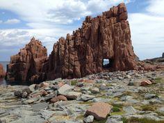 Rode rotsen in Arbatax, Sardinie | Red rocks in Arbatax, Sardinia