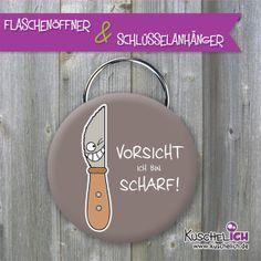 Flaschenöffner inkl.  Schlüsselring von Kuschelich auf DaWanda.com