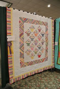 Flowers In The Cabin machine quilting by Elizabeth K. via http://mqresource.com