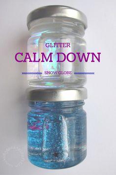 DIY mini glitter calm down jar tutorial