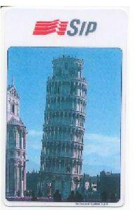 Le prime schede telefoniche illustrate emesse per il mercato dei collezionisti raffiguravano luoghi di interesse artistico. Ecco la Torre di #Pisa