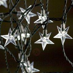 Varmhvitt LED-lyskjede med stjerner 5524077