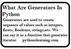 generators in python geeks for geeks | python tutorials point Computer Engineering, Integers, Generators, Geeks, Python, Geek Stuff, Tutorials, Sayings, Geek