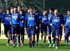 Players of Italy during Italy Training Camp - Day 1 at Acqua Acetosa on March 10, 2014 in Rome, Italy.