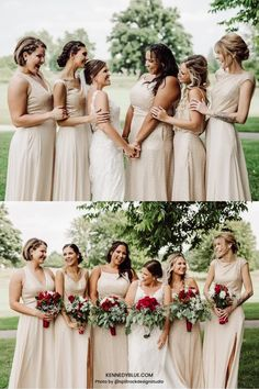 If you've ever dreamed of a stunning gold bridal party, Kennedy Blue's sequined bridesmaid dresses in the color 'Gold' will help you achieve this! // gold bridesmaid dress // gold sequined dress // unique bridesmaid dresses // gold wedding // gold bridal party // elegant bridesmaid dress