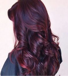 Are you looking for Dark Hair Color For Red Burgundy Violet Purple Hair Colors? See our collection full of Dark Hair Color For Red Burgundy Violet Purple Hair Colors and get inspired! Hair Color Purple, Hair Color And Cut, Purple Tips, Twisted Hair, Hair Highlights, Burgundy Highlights, Dark Red Balayage, Dark Red Highlights, Peekaboo Highlights