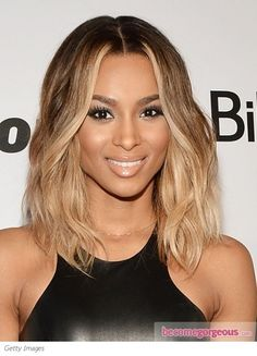 Pretty Ombre' On Ciara. Perfect for her skin tone.