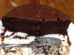 coconut flour, coconut oil ganache chocolate cake.