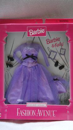 Barbie Doll 1998 Fashion Avenue Matchin' Styles Barbie and Kelly Purple