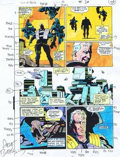 color guide for a Mike Mignola X-Force page