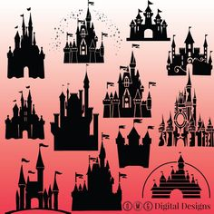 12 cinderella castle silhouette cinderella by OMGDIGITALDESIGNS