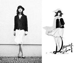 The little black jacket. (by Nancy Zhang) http://lookbook.nu/look/3591853-The-little-black-jacket