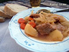 Cabbage and pork Tasty, Yummy Food, Pot Roast, Main Dishes, Cabbage, Pork, Meals, Ethnic Recipes, Carne Asada