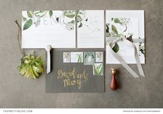 Nature Inspired Wedding Invitations | Photography by Susan du Toit Photography | Stationery by Chrystalace