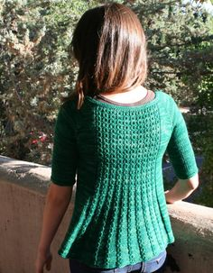 You are bidding on Marian PDF pattern    Marian is a feminine open cardigan/shrug, and has a lace back panel.    This will be just as cute with a pair of jeans, as it will over a summer dress.    Marian has classic half sleeves and is knit top down, with the edging picked up and knit.    The lace is charted and written out.    This pattern is suitable for sport or DK weight yarn.    Yarn – Mary Gavan Yarns Cuesta in Emerald  Needle- 8 us (5.00 mm) or what you need to get gauge   6 us (4.00…