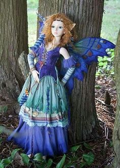 dolls by Martha Boers | Azure, a Forest Fairy | Martha Boers Dolls