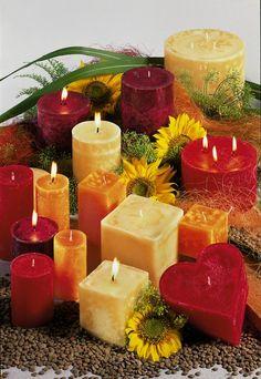 Orange Red Candles