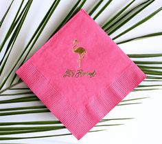 Tropical Flamingo Party - Gold Foil Cocktail Napkin Set by SouthernFriedPaper on Etsy https://www.etsy.com/listing/276280624/tropical-flamingo-party-gold-foil
