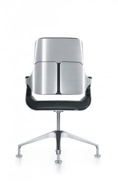 Executive swivel chair with synchronous mechanism and weight adjustment. Upholstered back Sprung column Backrest height: 360mm,560mm or 800mm White-silverpowder coated metal parts Five-star aluminium base on castors All materials segregated and recyclable Available in a variety of colours and fabrics.
