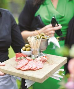 Antipasti platters were passed around for guests to nibble on during the drinks reception. Maria and Sam's beautiful outdoor wedding at Ballyvolane House, Co. Irish Wedding, Our Wedding, Wedding Ideas, Nibbles Ideas, Antipasti Platter, Confetti, Cork, Real Weddings, Reception
