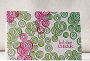 christmas card with a very effective pattern - and so simple... ~note to self: zentangle with colours