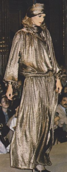 Yves Saint Laurent Haute Couture. Marie France, September 1977. Photographed by Jean-Philippe Decros