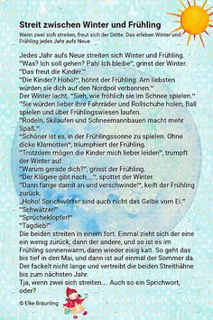 When winter and spring are fighting - Primary Education, Primary School, Kids Education, Spring Activities, Daily Activities, School Direct, Spiritual Practices, German Language, Industrial Revolution