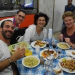 In trattoria with Lollo, Stefania and Sue...happy smiles ;)