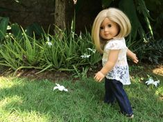 Denim Jeans and Lace Top 18 inch dolls clothes
