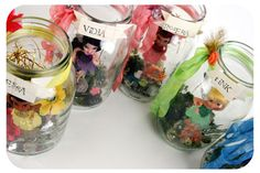 fairy jar's for a wee little one's fairy theme party.. seriously?! love. @Rebekah Christian