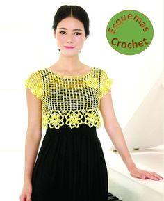 Blusas tejidas a crochet hermosas, lindos diseños para tejer, lucir y destacarte en tu grupo de amigas. Descarga los patrones gratis