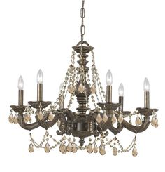 Crystorama Legacy English Bronze 8-light Crystal Chandelier - Overstock Shopping - Great Deals on Crystorama Chandeliers & Pendants