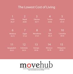 We often think about the cost of living from city to city and less often from country to country. Movehub, a resource for those moving abroad, visualized data that shows us how this cost changes around the world. They used information from the website Numbeo, which is a crowdsourced global database. Users report the prices of things like a restaurant meal, their grocery bill, and rent to help come up with a Cost of Living Index. Movehub then turned these numbers into a colorful ...