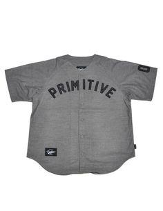 Primitive Apparel 'OG Team Baseball Jersey - Charcoal