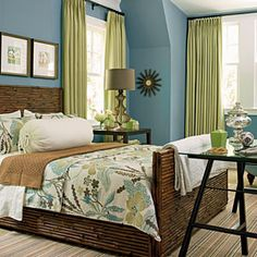 Wall Color: Jekyll Club Pulitzer Blue (4008-4A), Valspar  I like the wall colors; subtle and sophisticated. Bedrooms will  soon have a new look. Will use different accents colors to vary the visual interest of each room for transition balance.