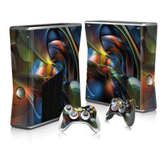 Transparent Design sticker skin for Xbox 360 slim - Decal Design