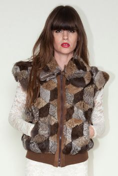 Patchwork fur vest. $88.00, via Etsy.