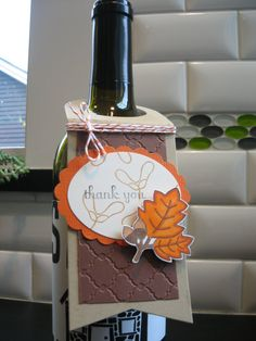 Fall Wine Bottle Tag Thanksgiving Wine Tag  Fall by apaperaffaire, $2.75