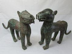 Old African Art Benin Bronze Leopards by AmazingMagicalSpells