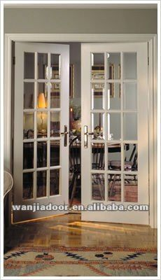 Buena calidad interior de doble francés puertas-Puerta ...