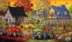 Les détestables Plus Colorful Pictures, Cute Pictures, Painting & Drawing, Watercolor Paintings, Creation Photo, Z Arts, Colouring Techniques, Country Art, Autumn Art