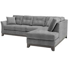 Apt2B Marco Smoke Dark Grey 2Pc Sectional ($2,188) ❤ liked on Polyvore featuring home, furniture, sofas, button tufted chaise, tufted sofa, modern tufted sofa, dark grey sectional and button-tufted sofas