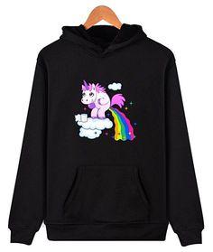Eudolah Unisex Pullover Unicorn Print Sweatshirts Plus Size Jumpers Hoodies: Amazon.co.uk: Clothing