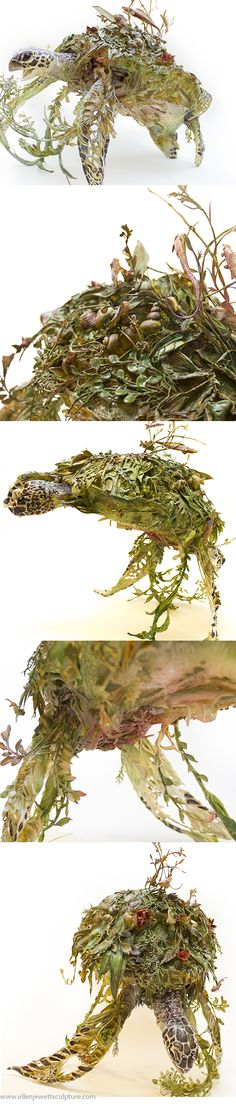 a trip to and from reality - green sea turtle sculpture by Ellen Jewett