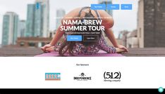 """#Yoga + #Beer? Yes, please! Club Blue put the """"fun"""" in this FUNdraising idea. Also, the nonprofit included their sponsors on their event page front and center, which sponsors love to see. The logos are above the fold, so a user doesn't have to scroll down their fundraising page to see the logos. Fundraising Page, Fundraising Websites, Donation Page, Event Page, Non Profit, Brewing, Beer, Tours, Yoga"""